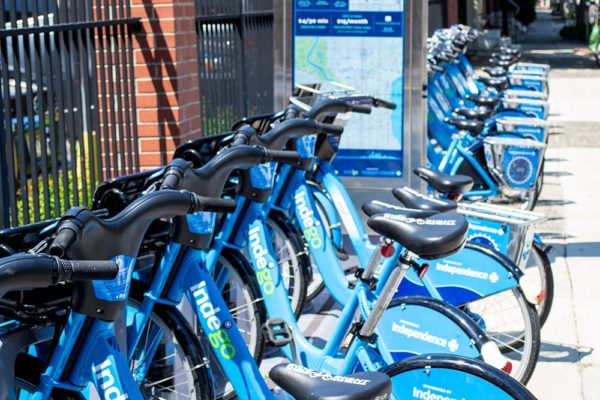 Indego Bikes nearby Textile Lofts